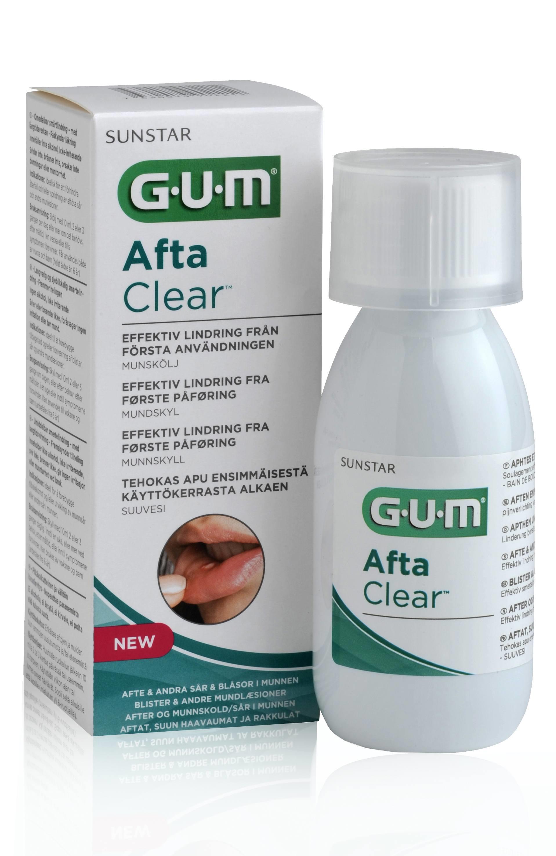 GUM AftaClear, mundskyl, 120 ml