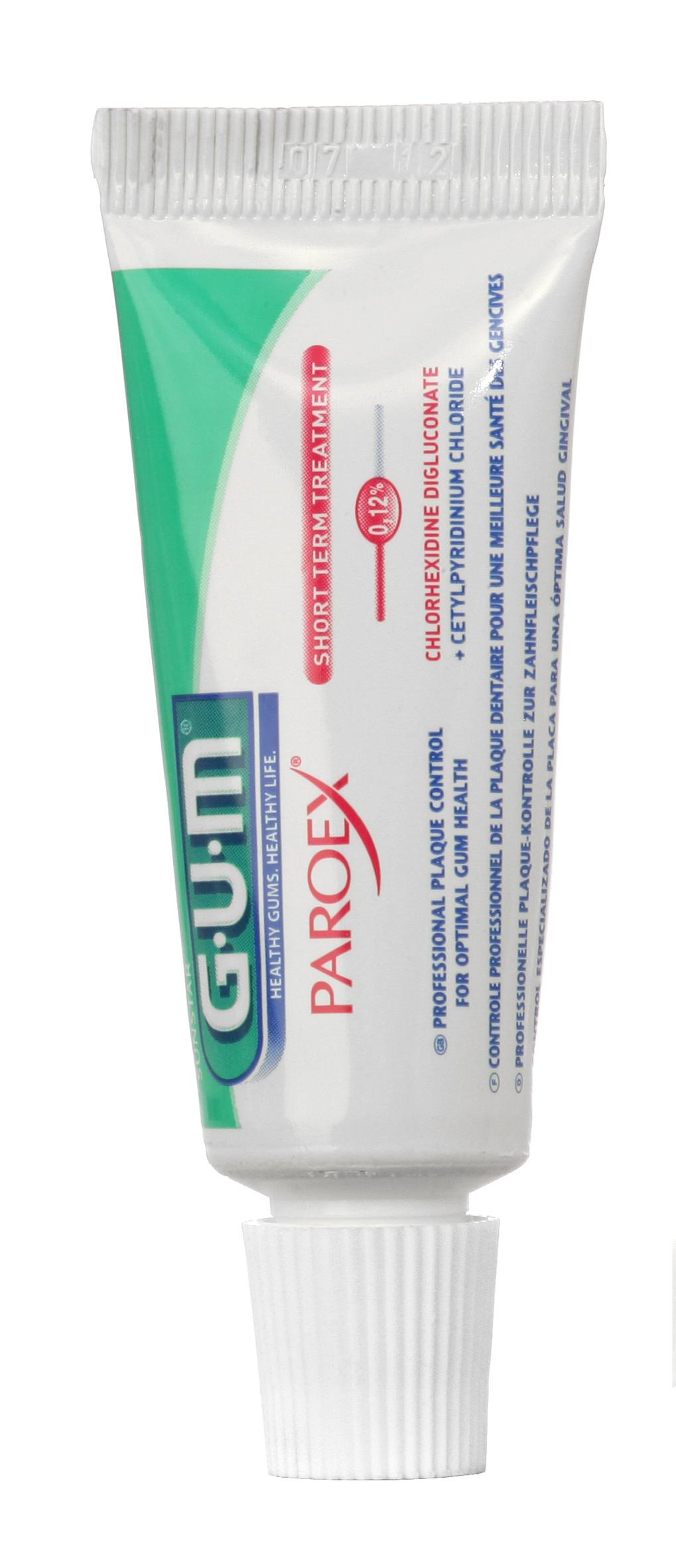 GUM Paroex, tandpasta, 0.06%CHX, med flour, 12.5 ml