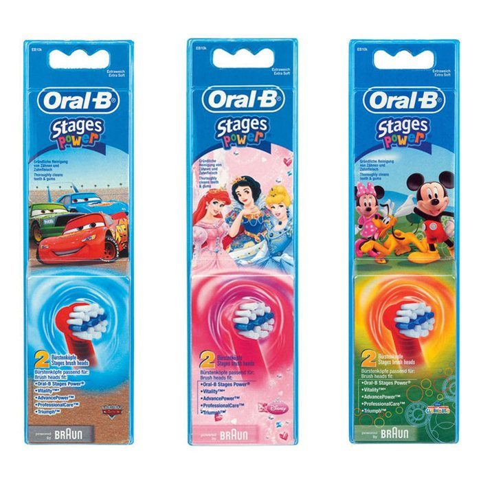 Oral-B, el-børstehoved, StagesPower, barn, 2 stk