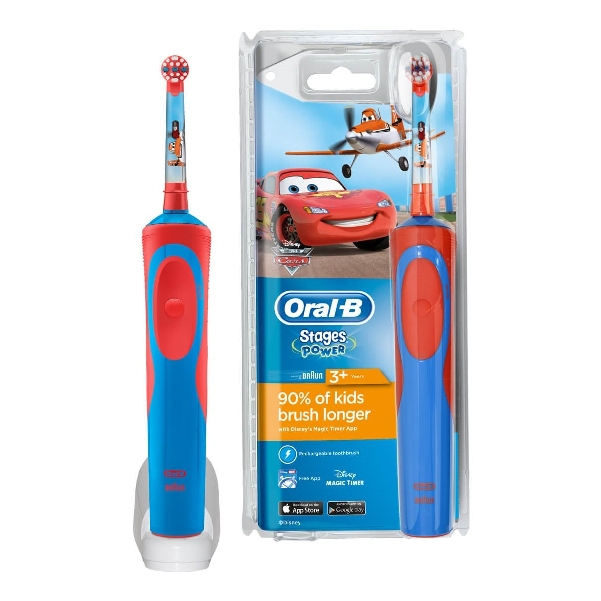 Oral-B, el-tandbørste, Vitality Kids, Cars/Princesses
