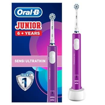 Oral-B, el-tandbørste, Junior 6+, Lilla